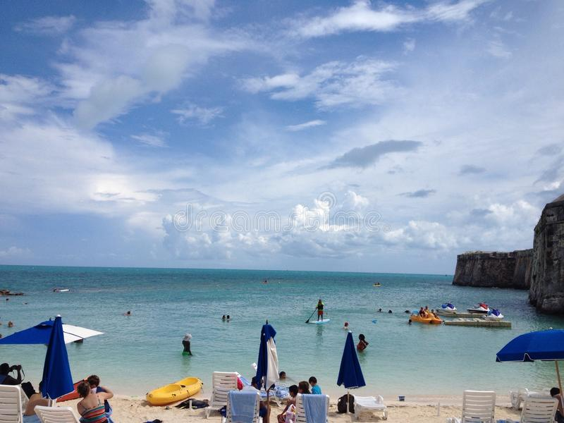 Bermuda beach stock image