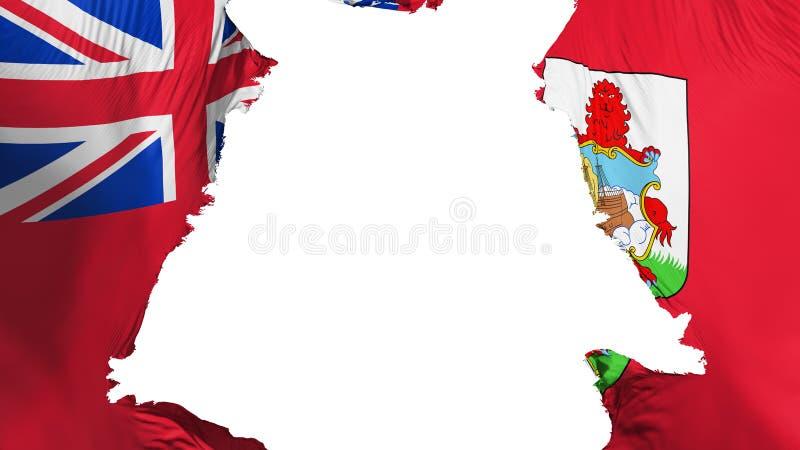Bermuda flaga rozdzierająca oddzielnie ilustracja wektor