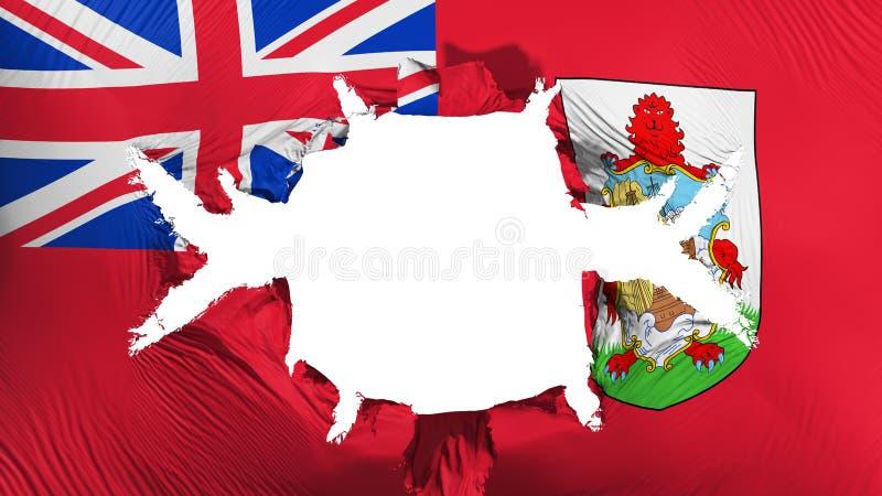 Bermuda flaga z dużą dziurą ilustracja wektor