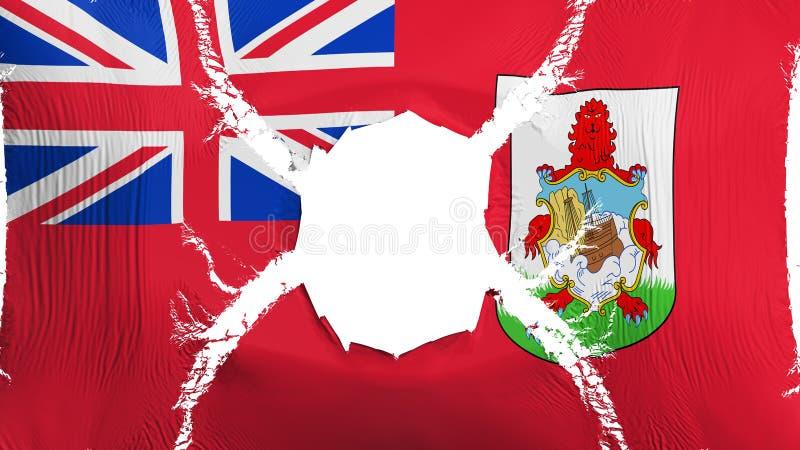 Bermuda flaga z dziurą ilustracja wektor