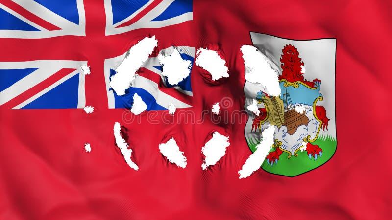 Bermuda flaga z małe dziury ilustracji