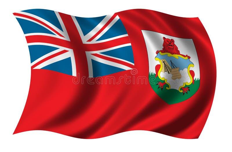 bermuda flagga stock illustrationer