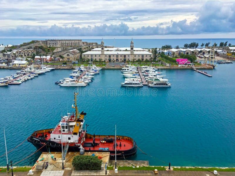 bermuda görar till kung hamnplatsen arkivfoto