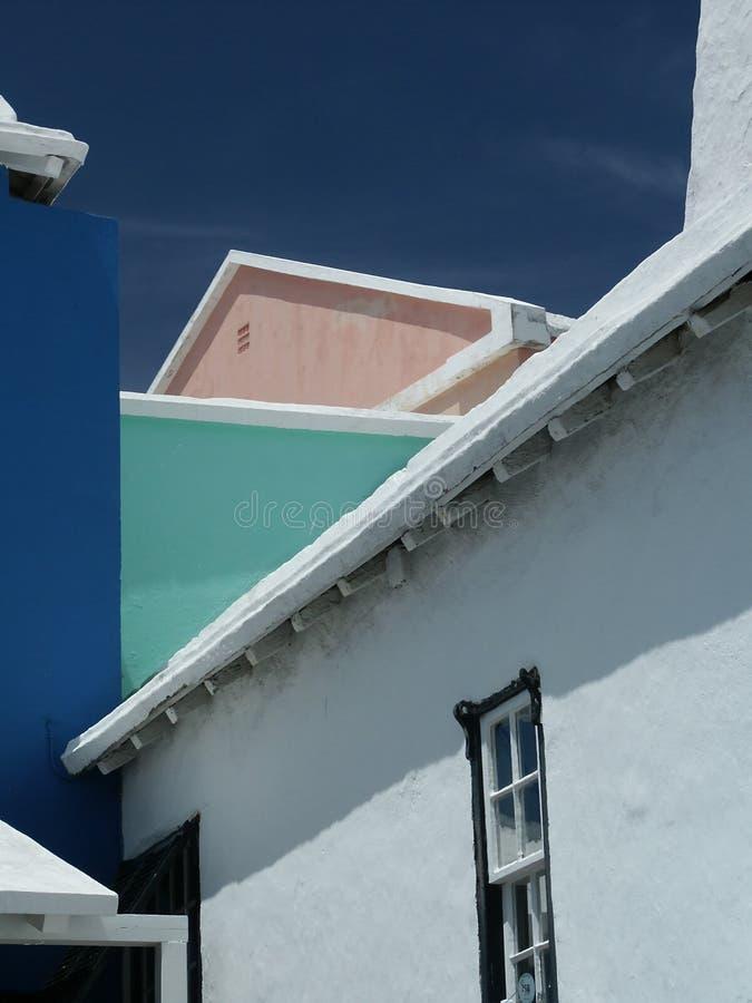 Bermuda-Häuser stockfotos