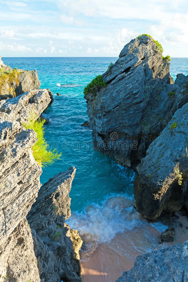 Bermuda Warwick Long Bay Beach Stock Photo