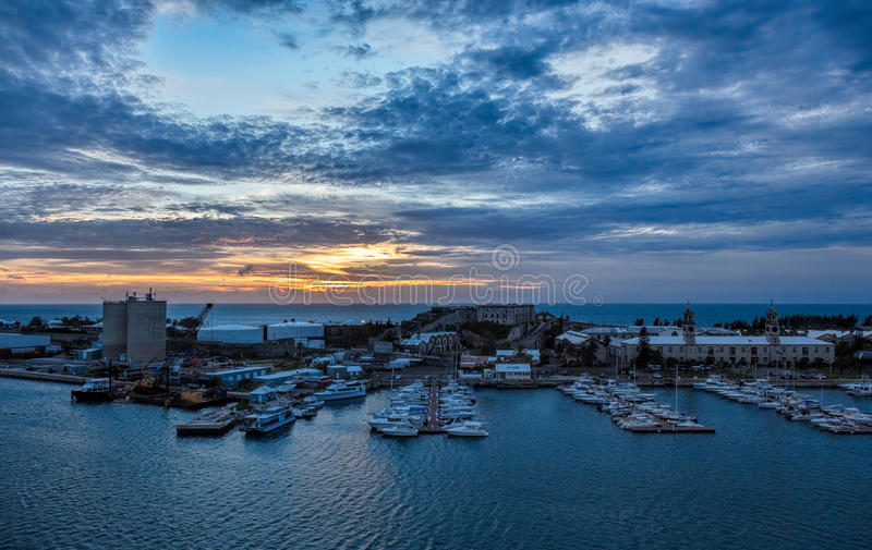 Bermuda Królewski Morski Dockyard przy królewiątka nabrzeżem zdjęcie royalty free