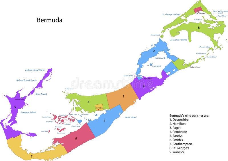 Bermuda mapa ilustracja wektor