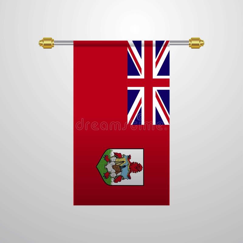 Bermuda obwieszenia flaga ilustracja wektor