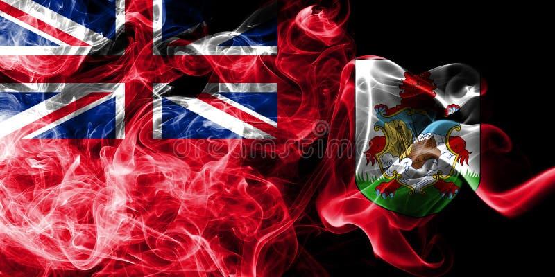 Bermuda rökflagga, beroende territorium flagga för brittiska utländska territorier, Britannien vektor illustrationer