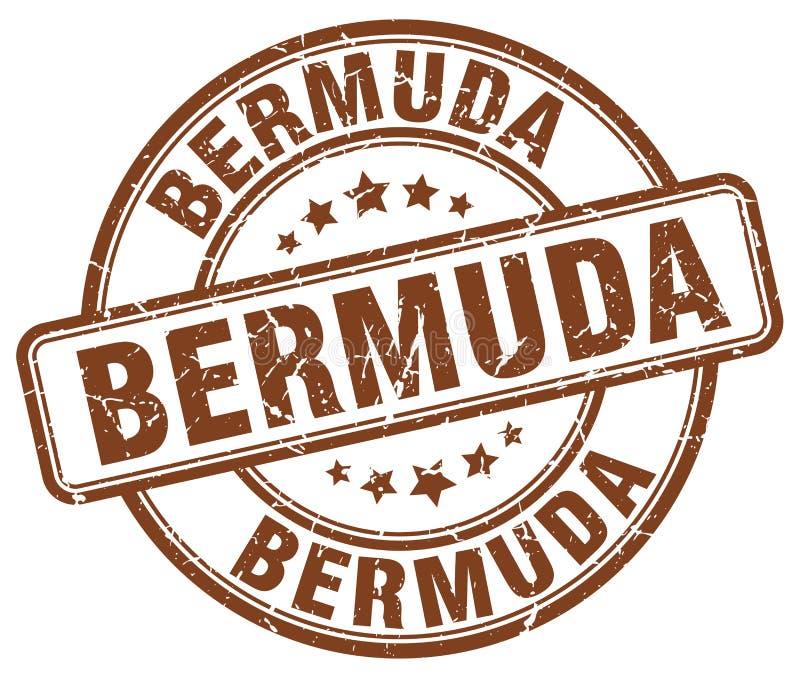 Bermuda stämpel vektor illustrationer