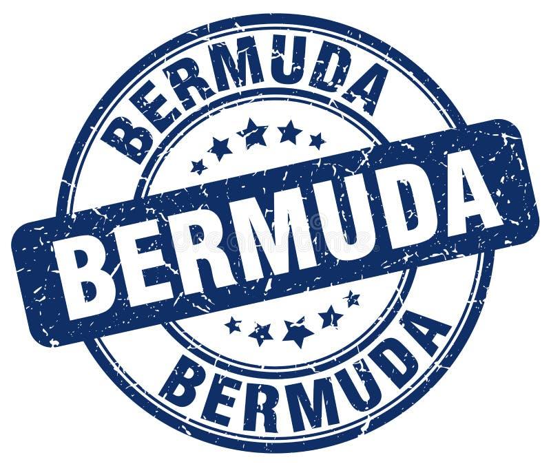 Bermuda stämpel royaltyfri illustrationer