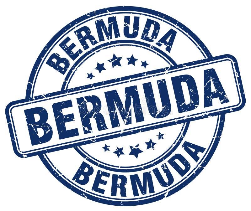 Bermuda stämpel stock illustrationer