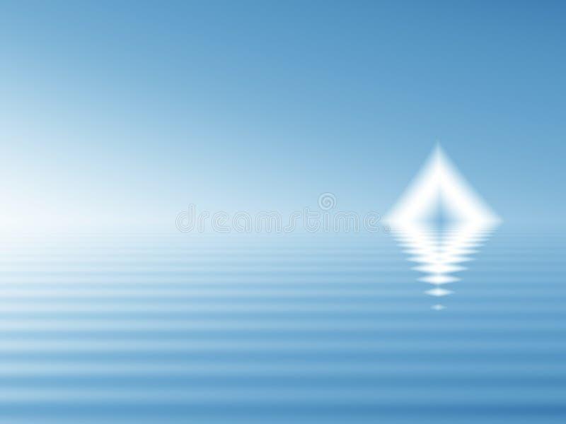 Bermuda triangelgåta royaltyfri illustrationer