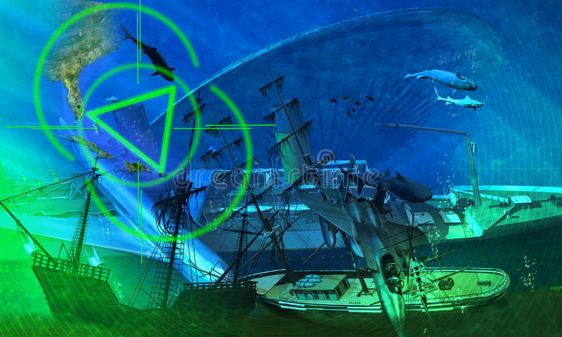 The Bermuda Triangle Royalty Free Stock Images