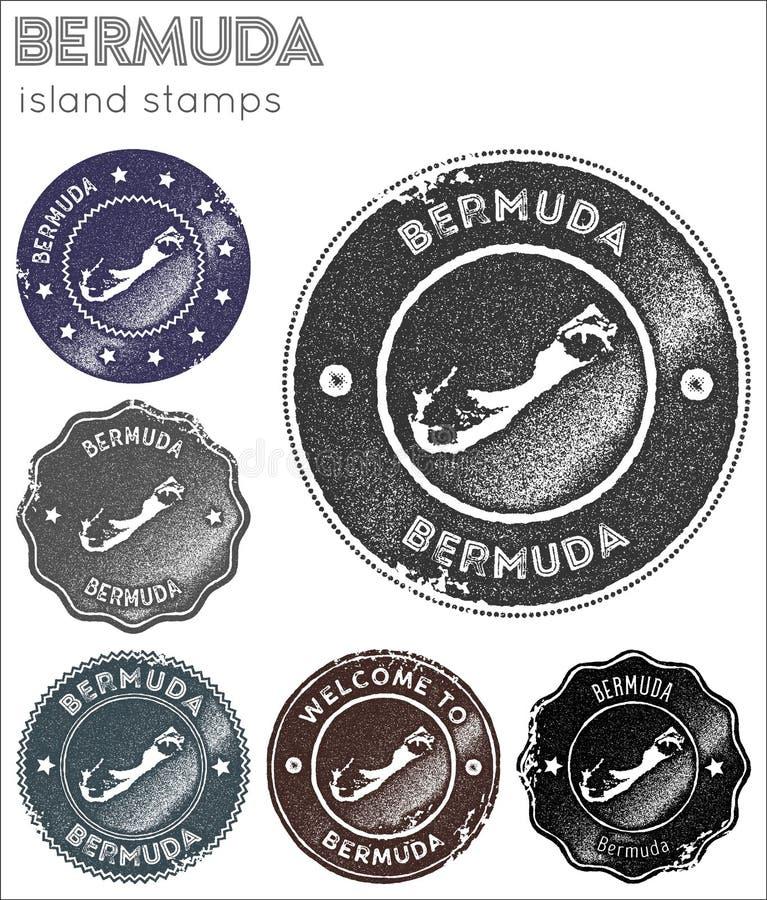 Bermuda znaczków kolekcja ilustracja wektor