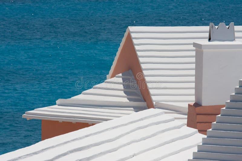 bermudian крыши шагнули стоковая фотография rf