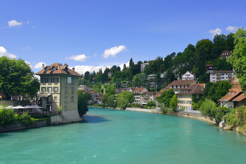 Download Bern stock photo. Image of clouds, coast, aare, water - 5002624