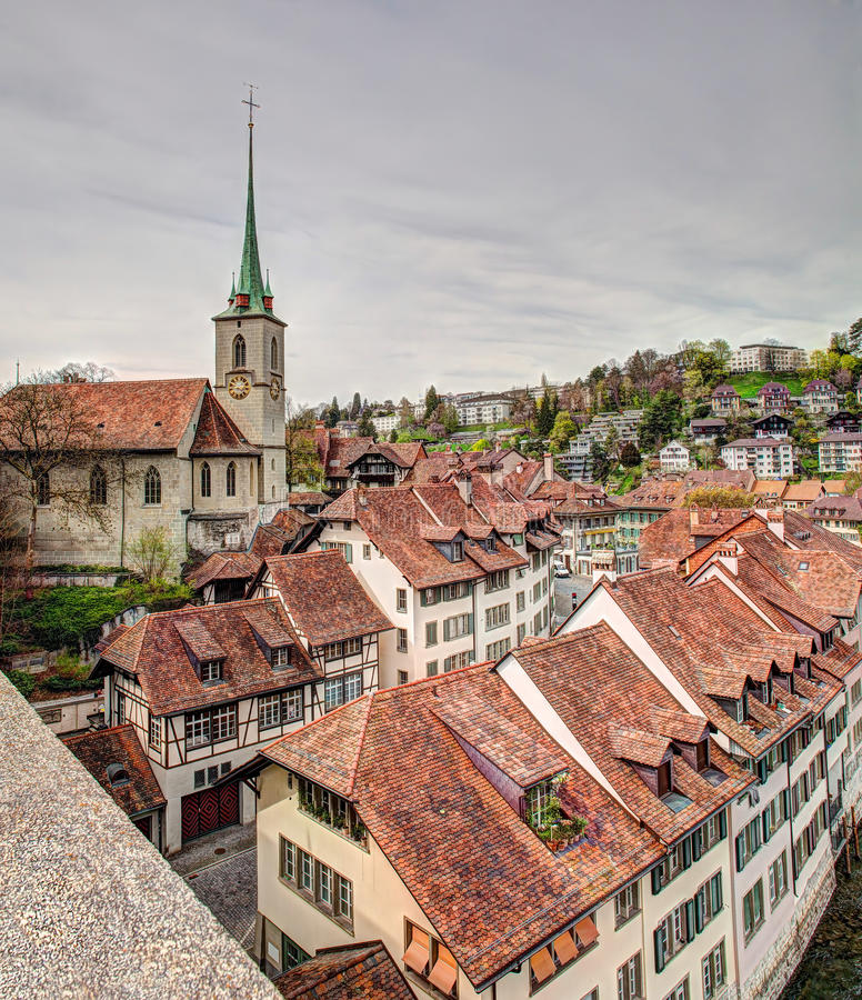 Download Bern cityscape, HDR editorial stock photo. Image of wall - 39881588