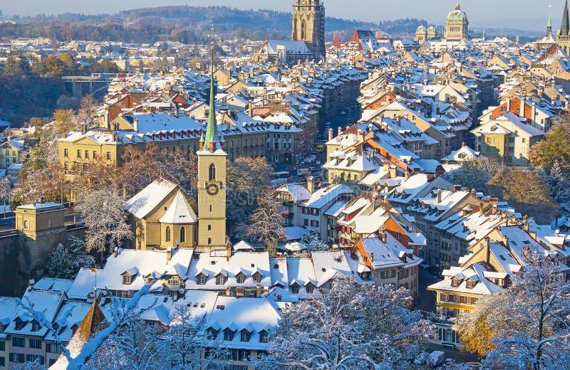 Bern im Winter stockbild