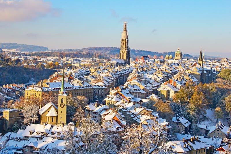 Bern im Winter lizenzfreies stockbild