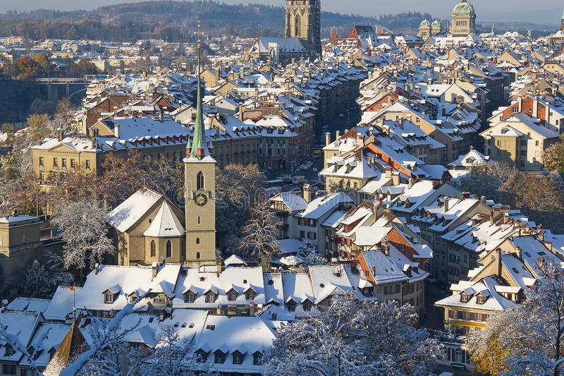 Bern im Winter stockfoto
