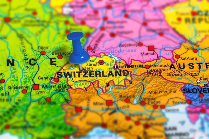 Bern Szwajcaria mapa obraz royalty free