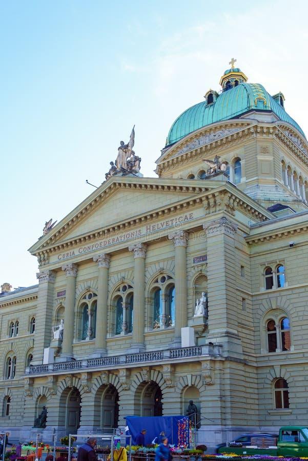 Bern Szwajcaria, Październik, - 17, 2017: Federacyjny pałac 1902, zdjęcie stock