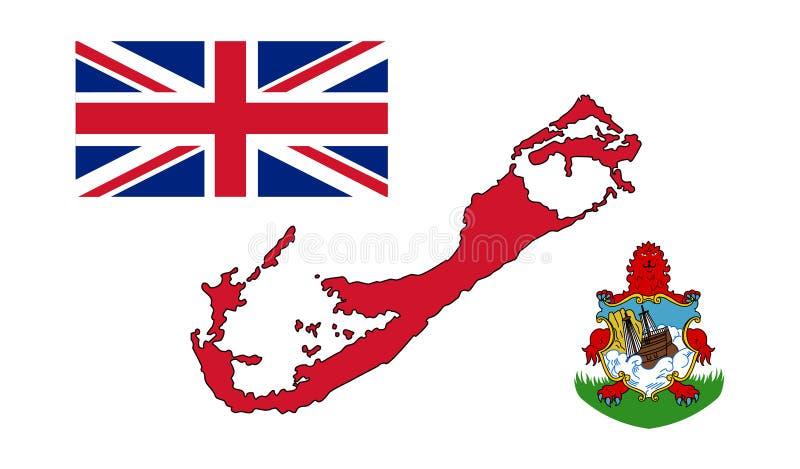 berna 百慕大传染媒介例证地图  向量例证