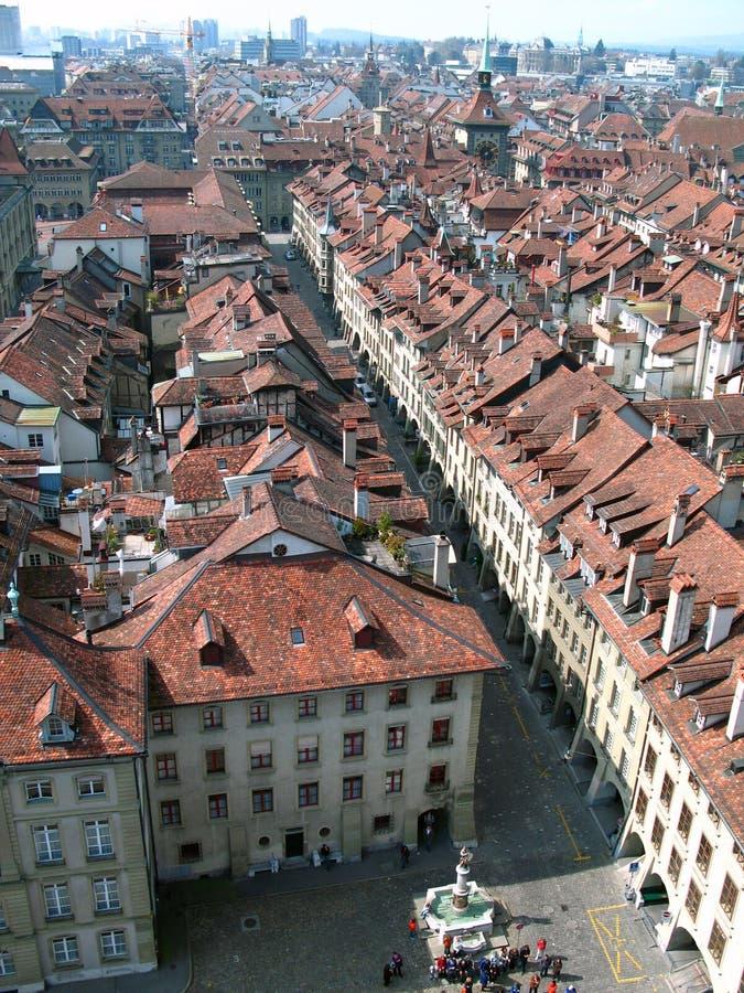 Berna dalla parte superiore, Svizzera fotografie stock