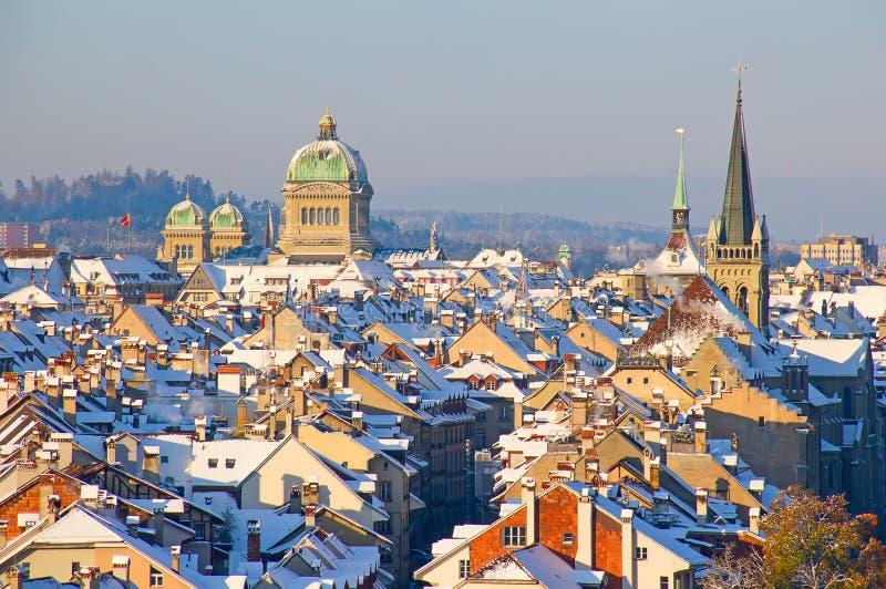 Berna no inverno fotografia de stock