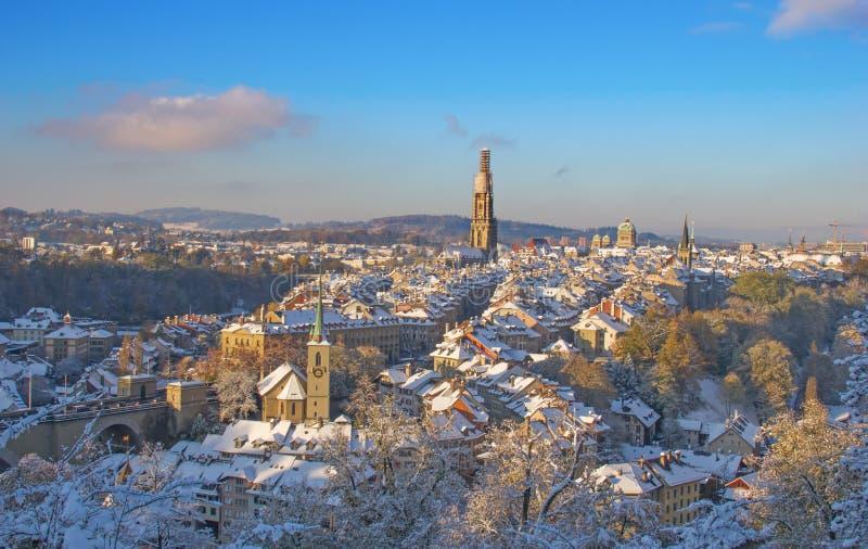 Berna no inverno imagens de stock