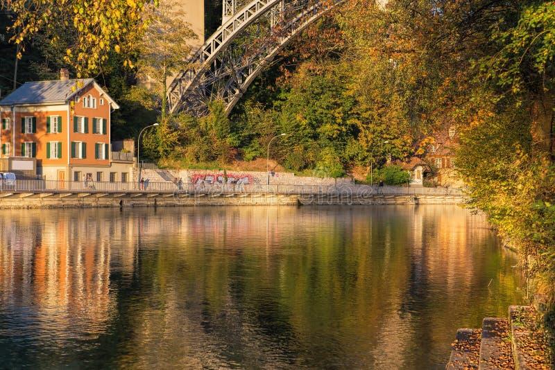 Berna, o rio de Aar imagem de stock royalty free