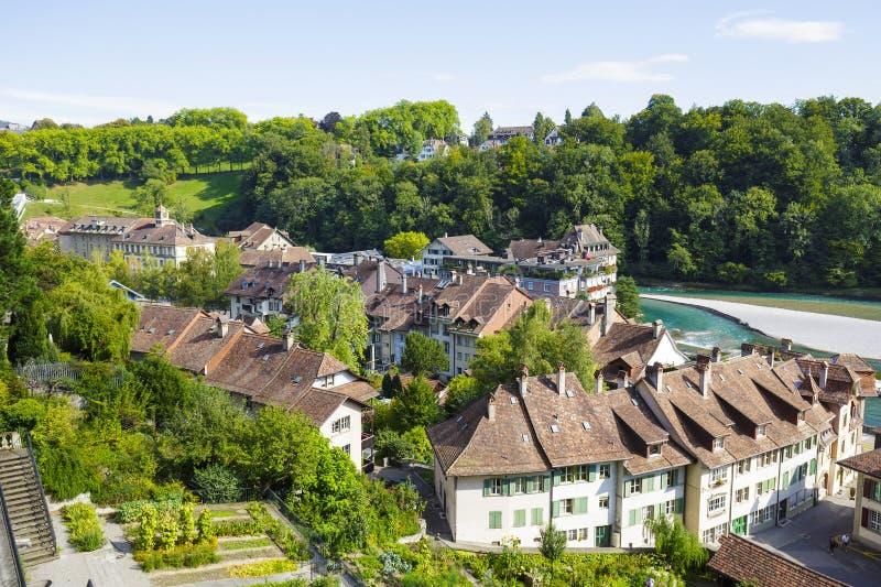 Berna, vista aérea da cidade imagens de stock royalty free