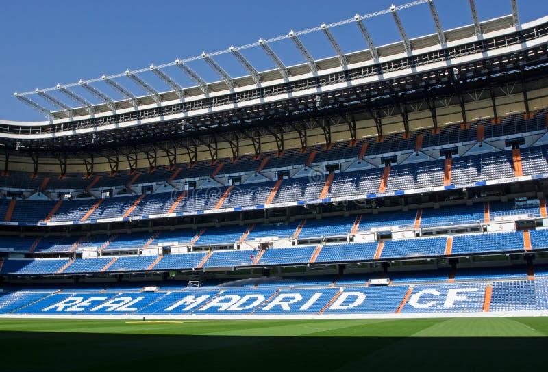 Bernabeu-Stadion in Madrid stockbilder