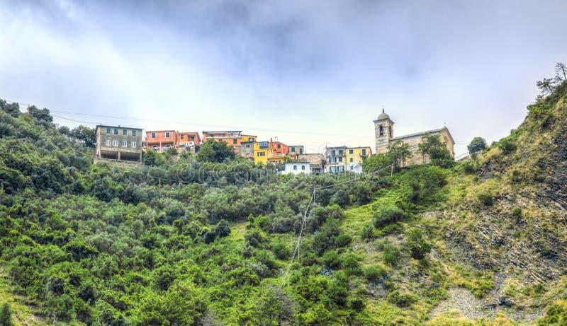 Bernadino Village - Cinque Terre- Italy stock photography