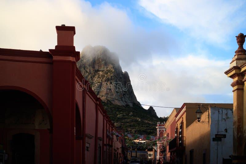 Bernal, Queretaro, Mexiko stockbilder