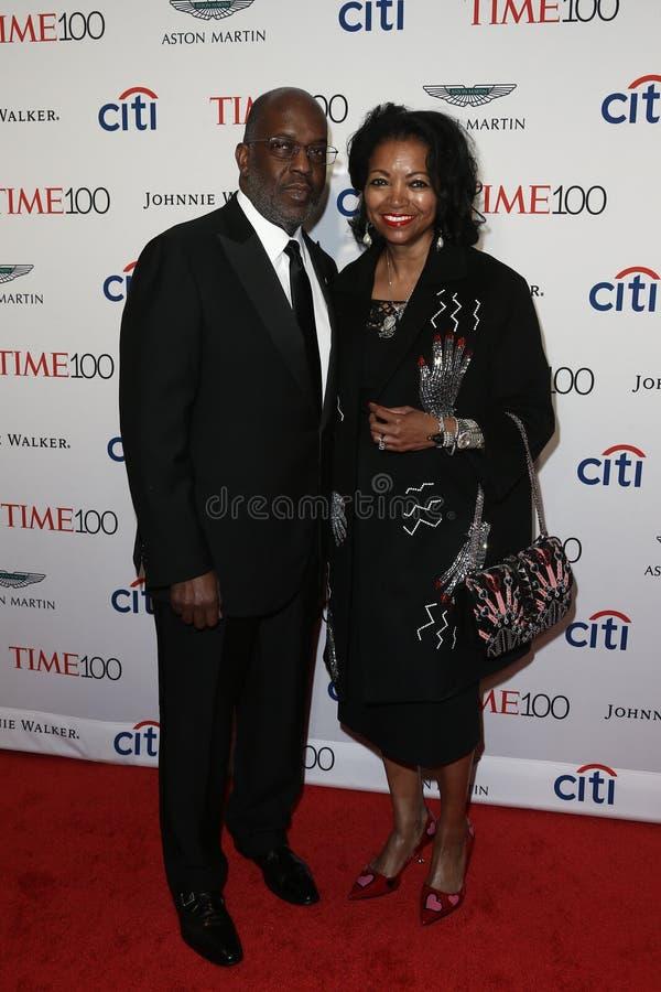 Bernard J Tyson och Denise Bradley-Tyson arkivfoto