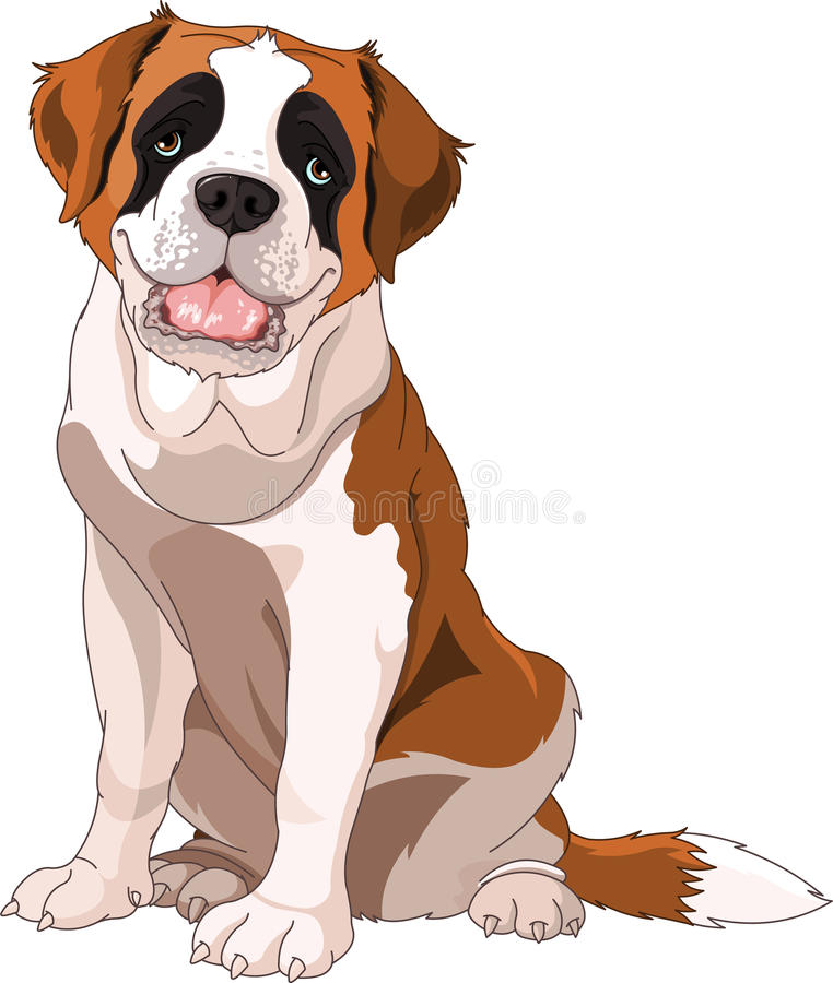 bernardhundst royaltyfri illustrationer