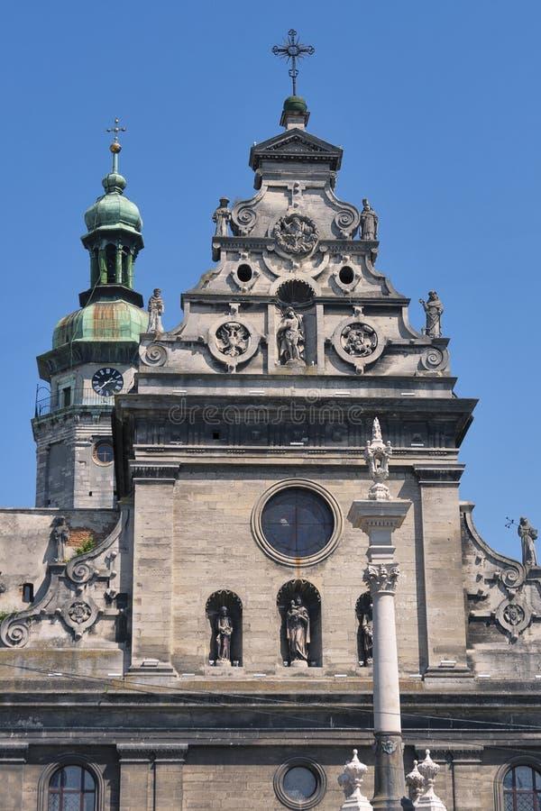 Bernardine Church en Klooster in Lviv, de Oekraïne royalty-vrije stock foto's