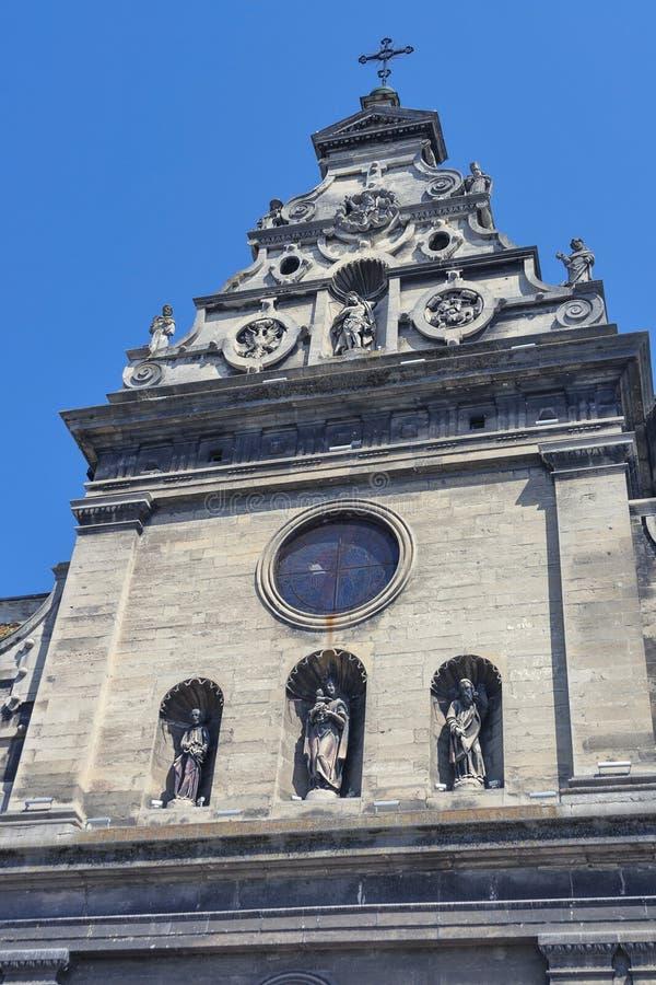 Bernardine Church en Klooster in Lviv, de Oekraïne stock afbeeldingen