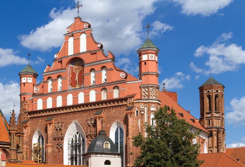 Bernardine Kirche in Vilnius, Litauen stockbild