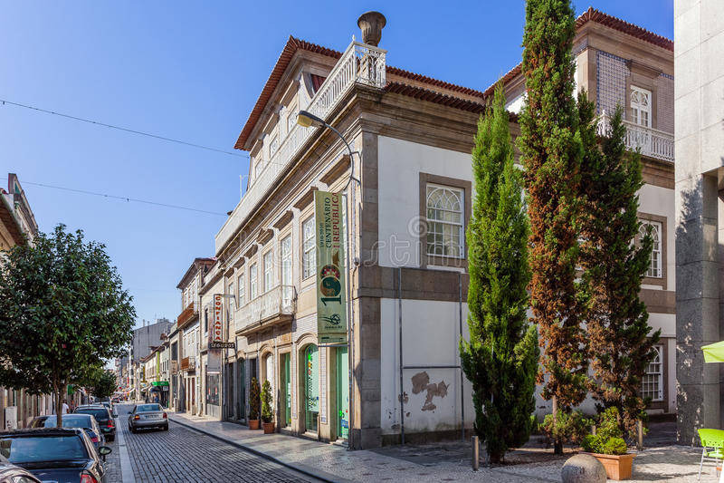 Bernardino machado muzeum w Vila Nova De Famalicao zdjęcie stock