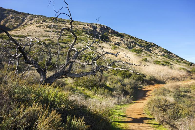 Bernardo Mountain Hiking Trail Poway San Diego County California photographie stock libre de droits