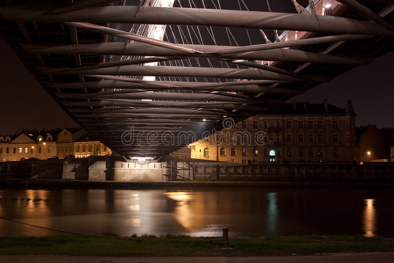 Download Bernatka Bridge in Krakow stock photo. Image of engineering - 19704014