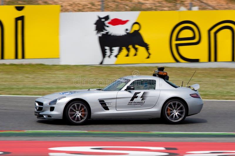 Bernd Maylander - de auto van de Veiligheid - F1 2012 royalty-vrije stock fotografie