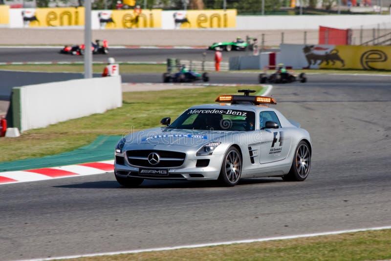 Bernd Maylander - de auto van de Veiligheid - F1 2012 stock fotografie