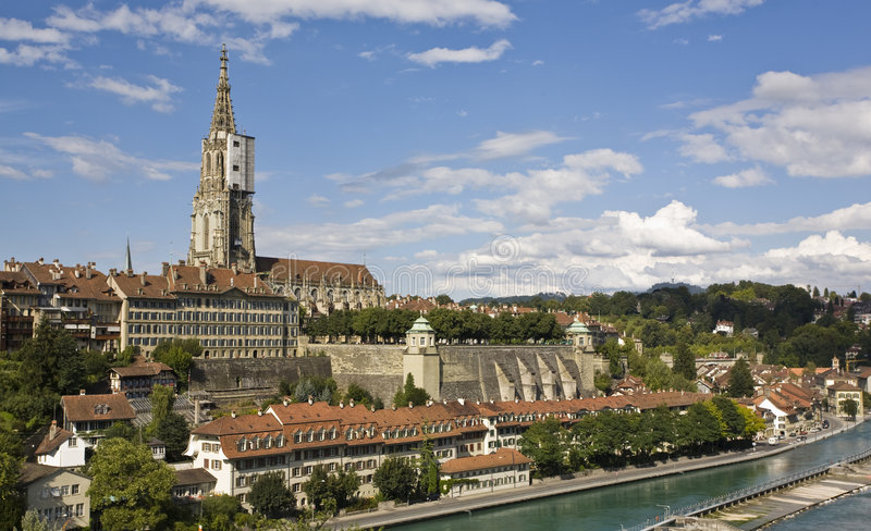 Berne - Capitol of Switzerland. Capitol of Switzerland Hauptstadt der Schweiz stock photos