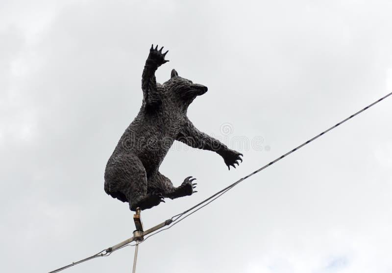 Berne, Suisse - 4 juin 2017 : Statue d'ours près de Barengraben photos libres de droits