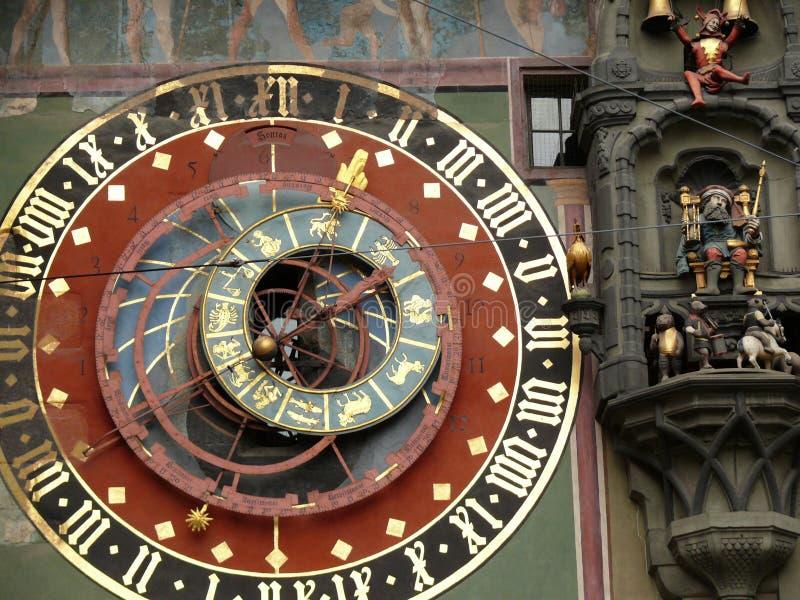 Berne, Suisse 08/02/2009 Visage d'horloge de watc suisse antique photos stock