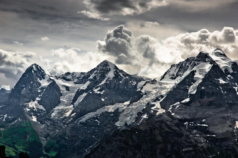 bernese的阿尔卑斯 库存图片